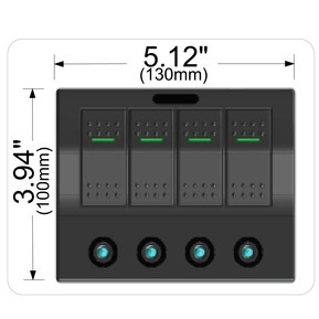20266 4-Switch Panel with Lighted Breakers