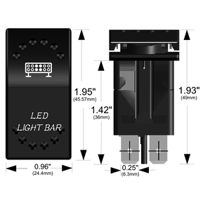 20260 LED ON-OFF Rocker Switch - White