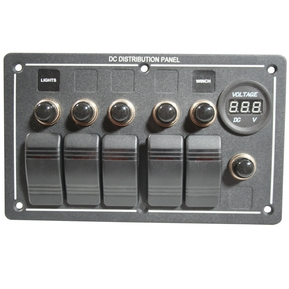 20267 6-Switch Panel with Breakers & Voltmeter