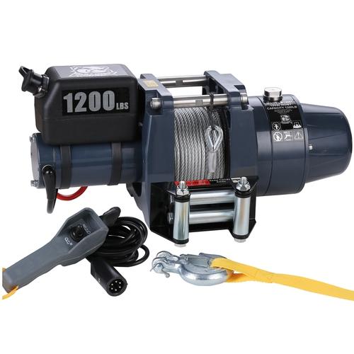 Hoist 1200 LB 12vDC Wire Rope