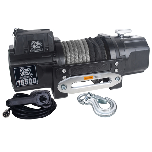 10058 16500lb HD Winch with 80ft Synthetic Rope