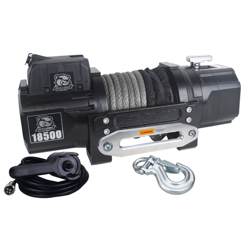 10060 18500lb HD Winch with 80ft Synthetic Rope