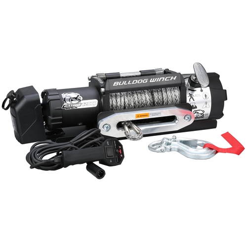 10040 12K TRAILER WINCH WITH SYNTHETIC ROPE, HAWSE FAIRLEAD